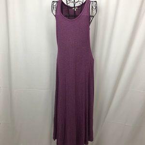 GAP knit skinny stripe sleeveless maxi dress S